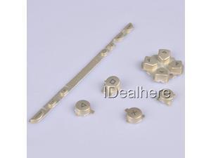 Golden Button Keypad Replacement Button Repair Parts Set For PSP 1000
