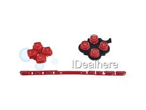 Red Button Keypad Replacement Button Repair Parts Set For PSP 2000