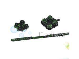 Camouflage Green Button Keypad Replacement Button Repair Parts Set For PSP 2000