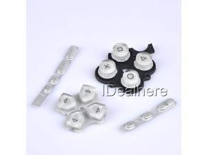 Silver Button Keypad Replacement Button Repair Parts Set For PSP 3000