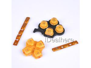 Golden Button Keypad Replacement Button Repair Parts Set For PSP 3000