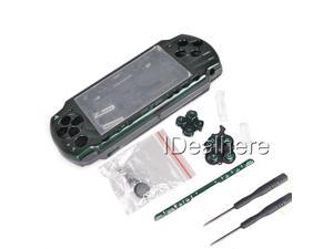 Fantastic Green Full Housing Kit Shell Case for PSP 2000 +2 Screwdrivers