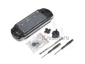 Transparent Black Full Housing Kit Shell Case for PSP 2000 +2 Screwdrivers