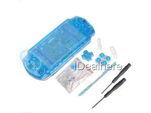 Transparent Blau Full Housing Kit Shell Case for PSP 2000 +2 Screwdrivers