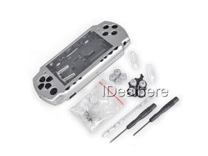 Silver Full Housing Kit Shell Case for PSP 2000 +2 Screwdrivers