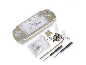 Light Golden Full Housing Kit Shell Case for PSP 2000 +2 Screwdrivers