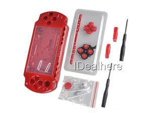 Red Full Housing Kit Replacement Case for PSP 2000 +2 Screwdrivers
