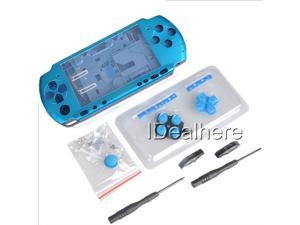 Light Blue Full Housing Kit Shell Case for PSP 3000 +2 Screwdrivers