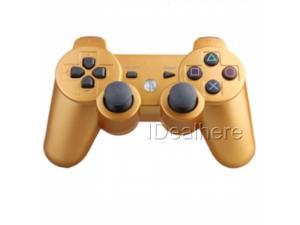 Dualshock Wireless Controller for Sony Playstation 3 (PS3)-Golden