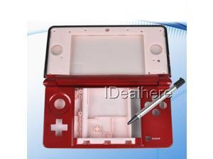 Red Complete Shell Housing Case Cover Replaced Parts+Tools for Nintendo 3DS