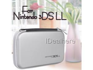 Silver EVA Zipper Hard Bag Pouch Skin Carrying Case for Nintendo 3DS LL