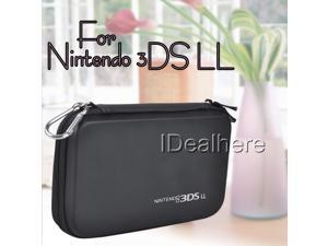 Black EVA Hard Bag Pouch Skin Carrying Case for Nintendo 3DS LL