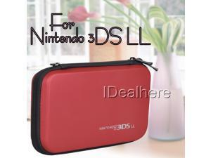 Red EVA Hard Bag Pouch Skin Carrying Case for Nintendo 3DS LL