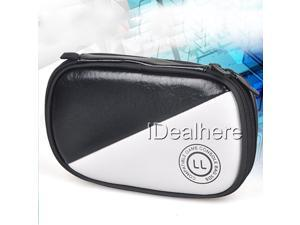 Black&White Protective PU Soft Pouch Carry Cover Case Bag for Nintendo 3DS LL