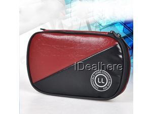 Red&Black Protective PU Soft Pouch Sleeve Carry Case Bag for Nintendo 3DS LL