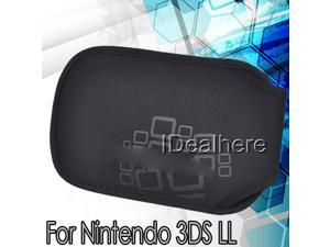Black Soft Case Cover Protective Snap Bag For Nintendo 3DS LL