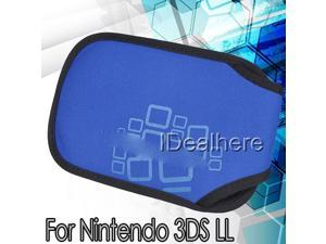 Dark Blue Soft Case Cover Protective Snap Bag For Nintendo 3DS LL