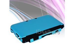 Light Blue Aluminum Shell Case Cover with Flannel inside For Nintendo 3DS LL