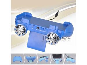 New 5in1 Multi Function Stand With Speaker for 3DS Game Console Blue
