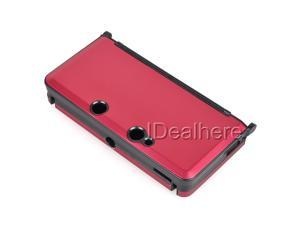 Red Plastic-aluminium Protective Skin Cover Case for Nintendo 3DS