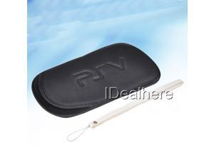Black Soft Protect Pouch Pocket Case Cover for PSV PS Vita with Wrist Strap