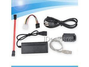 USB 2.0 TO SATA IDE Cable for Hard Drive HDD with AC/DC Power Adapter