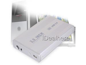 "3.5"" USB 2.0 Desktop Hard Drive Enclosure External SATA Disk HDD Case Box"