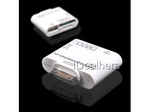 New White 5 in 1 USB Camera Connection Kit SD TF Card Reader Adapter for Apple iPad