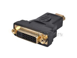 Black Ultra HDMI Male TO DVI-D 24+1 Female Adapter