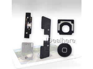 Home Button Click Inner Menu/Holder/Bracket Replacement Set 5in1 for iPad2 Black