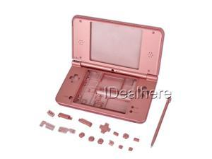 Pink Full Housing Shell Case + Tool for Nintendo DSIXL