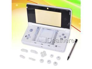 White Console Full Housing Shell Case +Tool for Nintendo 3DS