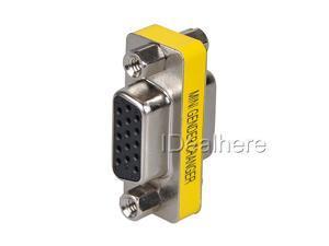 Mini Gender Changer 15 Pin VGA / SVGA Gender Changer F-F HD 15(HD VGA/SVGA) F/F