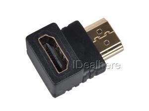 New HDMI Port Saver Male to Female - 90 Degree HDMI F/M Right Angle Adapter