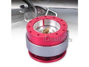Red Universal Steering Wheel Quick Hub Release Snap Off Boss Kit