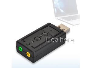 7.1 Channel External USB Virtual 3D Audio Sound Card Adapter