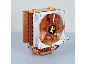 4Pin 130W CPU Cooler PC Cooling Fan With 4 Cooper Heat Pipes For Intel &AMD Sockets