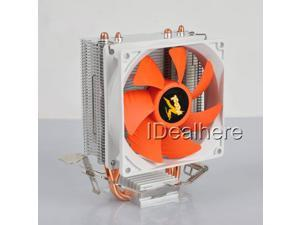 2 Heat Copper Pipes 95W 12V PC CPU Cooler 3Pin Cooling Fan For Intel &AMD Sockets