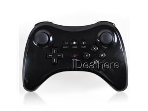 Black Dual Analog Pro Controller for Nintendo Wii U