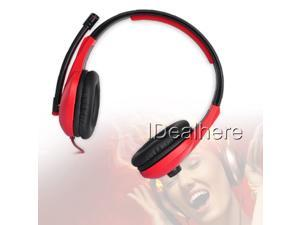 Flexible 3.5mm PC Wired Gaming Headset with Microphone Headphone