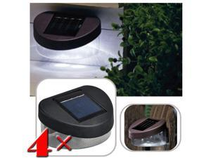 4x Outdoor Garden Solar Powered Pathway Shed Wall LED Landscape Fence Light Lamp