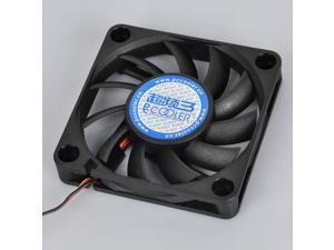 3 Pin Computer PC Case CPU Fan Cooler Cooling Heatsink Exhaust