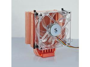 4 Pin Copper Heat Pipe PC CPU Heatsink Fan Cooler for Intel 775/1155/1156 AMD 754