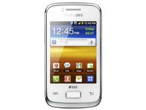 Samsung Galaxy Y Duos GT-S6102B White Single-Core 830MHz Unlocked Dual SIM GSM Smart Phone