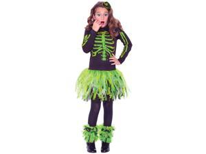 Punk Skeletude Skeleton Girls Costume