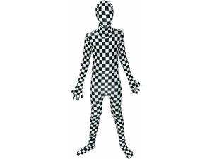 Black/White Checkered Kids Unisex Morphsuit