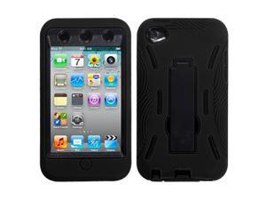 Apple iPod Touch 4 (4th Generation) Protective Case - Hybrid Black/Black Symbiosis w/ Vertical Stand