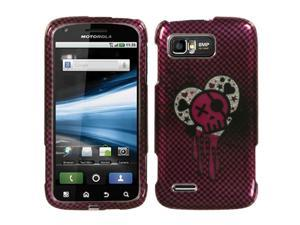 I Heart Rock (2D Silver) Sparkle Protector Case Cover for Motorola MB865 (Atrix 2)