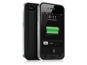 Mophie Juice Pack Air Case and Rechargeable Battery for iPhone 4/4s Black/Silver