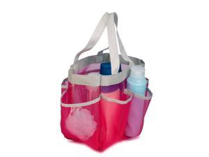 Honey-Can-Do Quick Dry Shower 6-Pocket Pink Easy to Carry Tote Bag